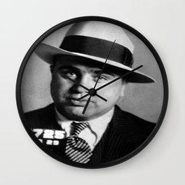 Al Capone Mug Shot Wall Clock