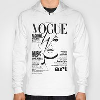kate moss Hoodies featuring Kate Moss / David Bowie by Linda Nicolaysen