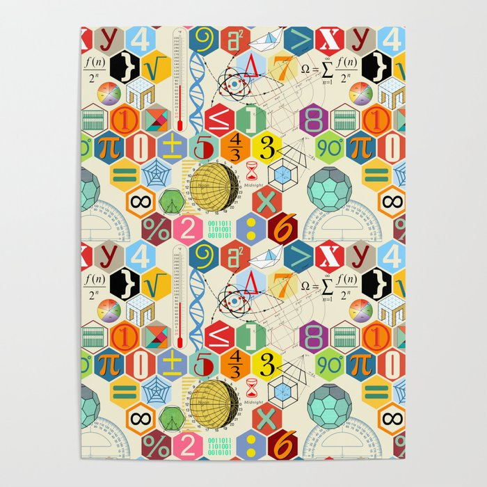 Math in color (little) Poster by chiccabesso
