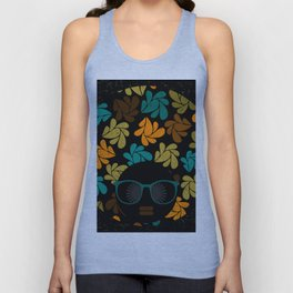 Afro Diva: Fall Colors Brown Gold Teal Unisex Tank Top