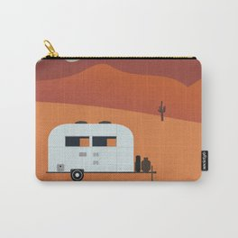 Camper in the Desert at Sunset Carry-All Pouch