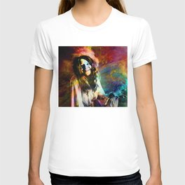 1970 Woman Of Rock And Roll By Annie Zeno T-shirt