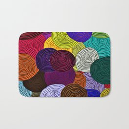 Colorful Circle Art Bath Mat