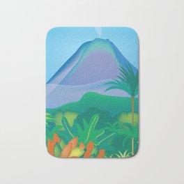 Costa Rica - Skyline Illustration by Loose Petals Bath Mat