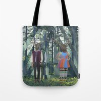 elk Tote Bags featuring Elk by Mary Lo