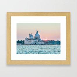 The Salute at Sunset in Venice Fine Art Print Framed Art Print