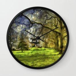 Pagoda Battersea Park Van Gogh Wall Clock