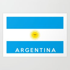 argentina country flag name text Art Print