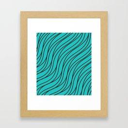 Abstract green waves Framed Art Print