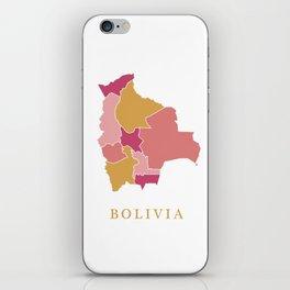 Bolivia map iPhone Skin