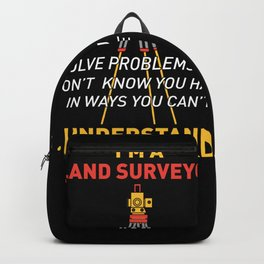 Land Survey GPS Land Surveyors Gifts Backpack