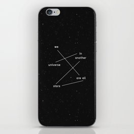 we are all stars iPhone Skin