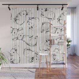 Vintage Bunnies Wall Mural