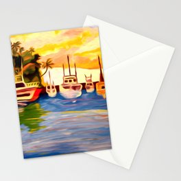 Lahaina Harbor Sunset Stationery Cards