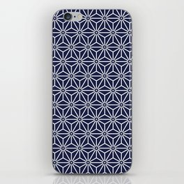 Japanese Yukata Jinbei Asanoha Navy blue iPhone Skin