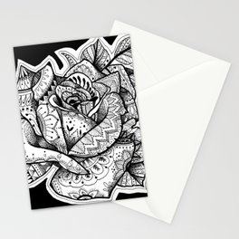 Henna Rose Tattoo Stationery Cards