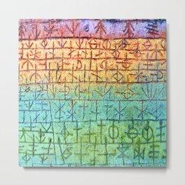 Paul Klee Tree Nursery Metal Print