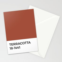 Terracotta Pantone Chip •Red •Earth Tones • Nature • Warm • Fall • Modern Design • Apartment Decor Stationery Cards