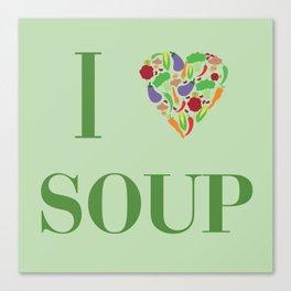 I heart Soup Canvas Print
