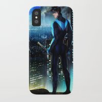 nightwing iPhone & iPod Cases featuring Nightwing by Cielo+