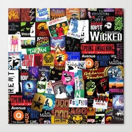 Musicals Collage Canvas Print