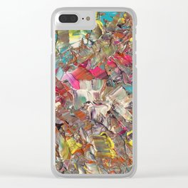 Abstract Acrylic Palette Knife painting Clear iPhone Case