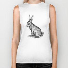 Rabbit in Ink Biker Tank