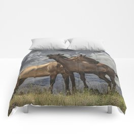 Montana Horses Comforters