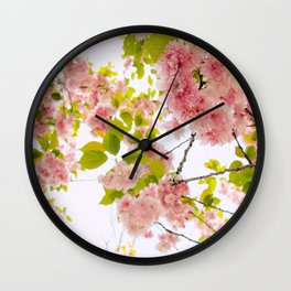 Pink Cherry Blossom Japanese Spring Beauty Wall Clock
