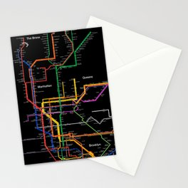 New York City subway map Stationery Cards