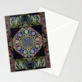 Celtic Boho Meditation Mandala Print Stationery Cards