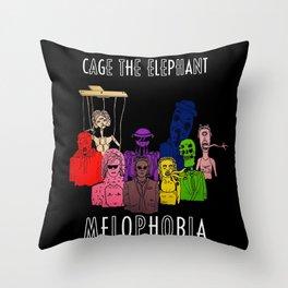Melophobia Throw Pillow