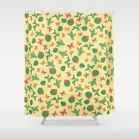 cactus Shower Curtains featuring Cactus by Kakel