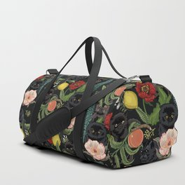 Botanical and Black Cats Duffle Bag