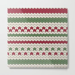 Christmas sweater knitting pattern Metal Print