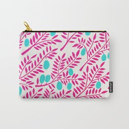 Olive Branches – Pink Ombré & Turquoise Carry-All Pouch