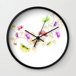 Flower Vine Wall Clock