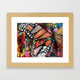 Monarch butterfly - collaborative piece Framed Art Print