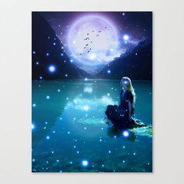 Under The Magic Moon by GEN Z Canvas Print