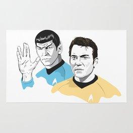 James T. Kirk & Spock Illustration Rug