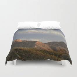 The majesty of the mountains at Catalina State Park II Duvet Cover