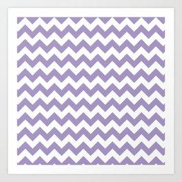 Lavender Chevron Print Art Print
