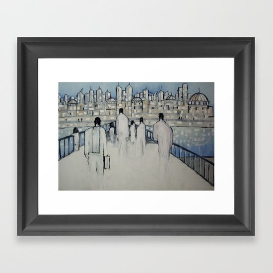 foot traffic 02 Framed Art Print