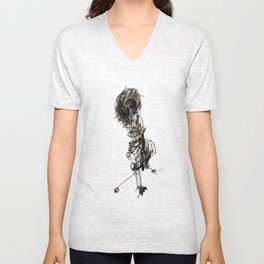 Figure From The Book Of The Damned Unisex V-Neck