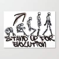 evolution Canvas Prints featuring EVOLUTION by AURA-HYSTERICA