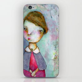 Girl in a Cape. iPhone Skin