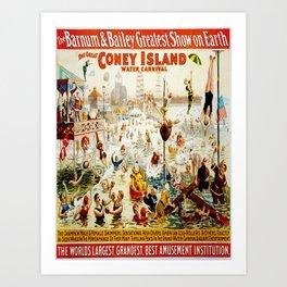 Vintage poster - Circus Art Print