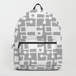 Mid Century Modern Abstract 214 Gray Backpack