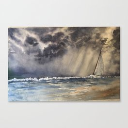 Stormy Sailing Day Canvas Print