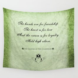 Claddagh ~ Love, Loyality, and Friendship Wall Tapestry